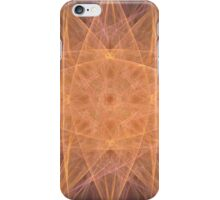 Pastel Orange Starburst iPhone Case/Skin