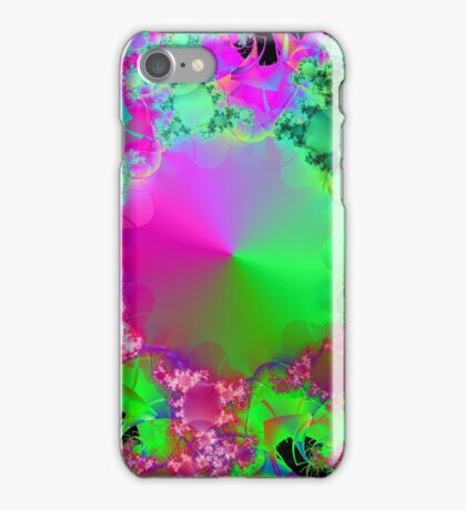 Neon Pink and Green Cone iPhone Case/Skin
