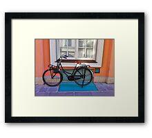 Commuter Bike - Italy Framed Print
