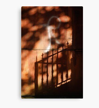 Railings shadows Canvas Print