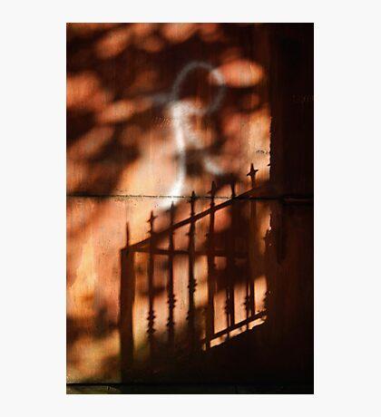 Railings shadows Photographic Print