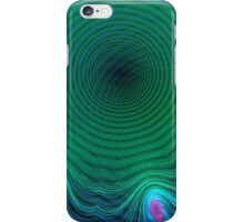 Invading Green Time Abstract iPhone Case/Skin