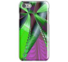 Infinite Green Ribbon Over Purple iPhone Case/Skin