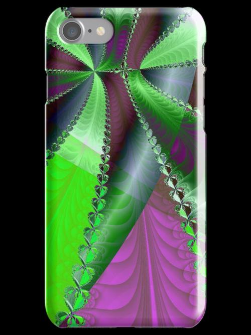 Infinite Green Ribbon Over Purple by pjwuebker