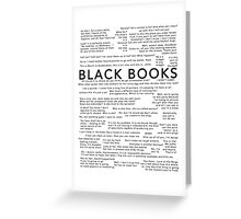 Black Books - Quotes Greeting Card