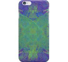 Green Starfish on Purple Abstract iPhone Case/Skin