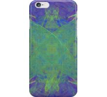 Green Starfish on Purple Abstract iPhone Case/Skin