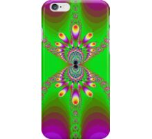 Green Abstract Spider on Purple iPhone Case/Skin