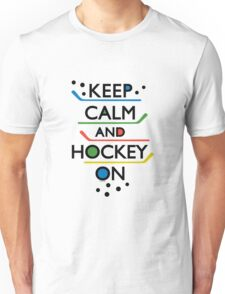 Keep Calm and Hockey On - white T-Shirt
