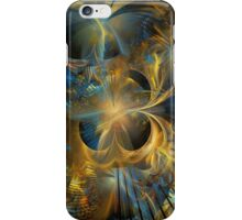 Golden Black Hole Abstract iPhone Case/Skin
