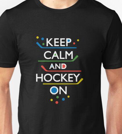 Keep Calm and Hockey On - dark Unisex T-Shirt
