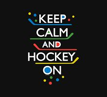 Keep Calm and Hockey On - dark Unisex T-Shirt
