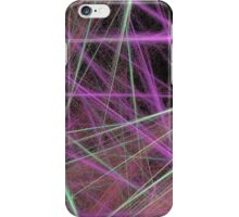 Fuzzy Pink and Green Lines iPhone Case/Skin