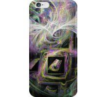 Framed Rainbow Swirls iPhone Case/Skin