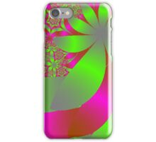 Flowery Bright Pink and Green iPhone Case/Skin