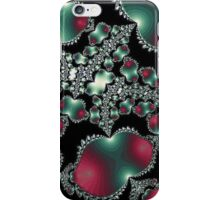 Elegant Maroon and Green iPhone Case/Skin