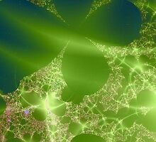 Digital Frost on Green and Blue by pjwuebker