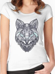 psychedelic wolf  Women's Fitted Scoop T-Shirt