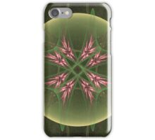 Cool Pink Crystals in Green Orb iPhone Case/Skin