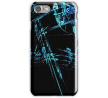 Blue Stick Man iPhone Case/Skin