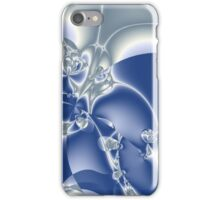 Abstract Ice Man on Blue iPhone Case/Skin