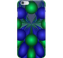 Abstract Grapes in Green and Blue iPhone Case/Skin