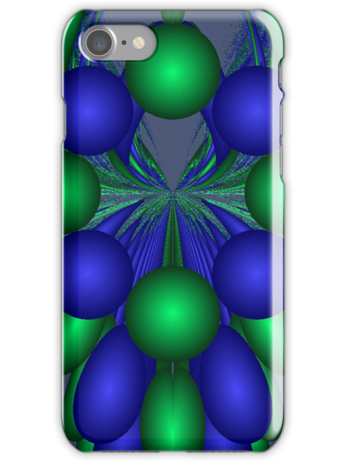 Abstract Grapes in Green and Blue by pjwuebker