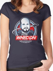 Vote Whedon  Women's Fitted Scoop T-Shirt