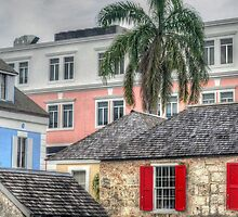 A sight through times in Downtown Nassau, The Bahamas by 242Digital