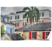 A sight through times in Downtown Nassau, The Bahamas Poster