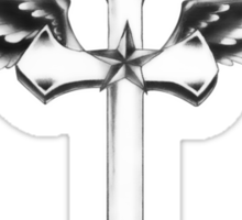 Crucifix Halo T Shirt Sticker
