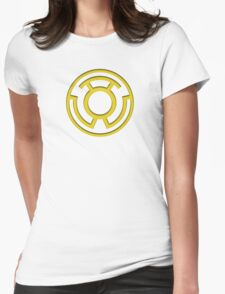 Yellow Lantern Insignia Womens Fitted T-Shirt