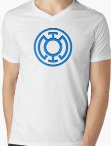Blue Lantern Insignia Mens V-Neck T-Shirt