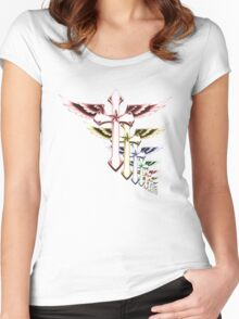 Crucifix Infinity  Women's Fitted Scoop T-Shirt