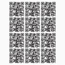 QR code dudeism sticker sheet by e4c5