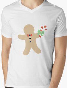 Gingerbread man #1 Mens V-Neck T-Shirt