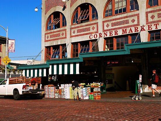 Morning at the Corner Market by Rae Tucker