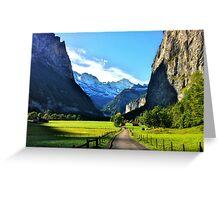 Luterbrunen Valley, Switzerland Greeting Card