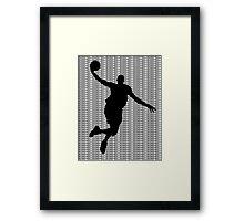 Basketball Jump Shot Framed Print