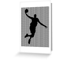 Basketball Jump Shot Greeting Card