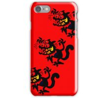 Cartoon Scaredy Cat iPhone Cases by Cheerful Madness!! iPhone Case/Skin