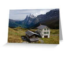 View from Panorama Trail above Grindlewald, Switzerland Greeting Card