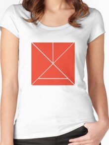 Hour Glass - Red Women's Fitted Scoop T-Shirt