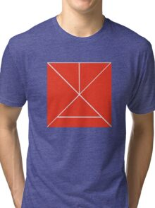 Hour Glass - Red Tri-blend T-Shirt