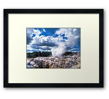 Pohutu Geyser Framed Print