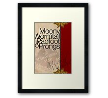 Moony, Wormtail, Padfoot, and Prongs Framed Print