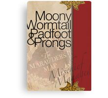 Moony, Wormtail, Padfoot, and Prongs Metal Print