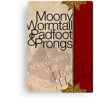 Moony, Wormtail, Padfoot, and Prongs Canvas Print