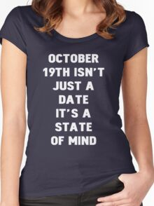 October 19th Women's Fitted Scoop T-Shirt