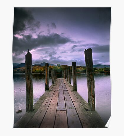 Jetty on Windermere, English Lake District Poster
